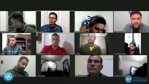 Sessão Ordiária da Câmara Municipal de Barbacena – 15 de Abril de 2021